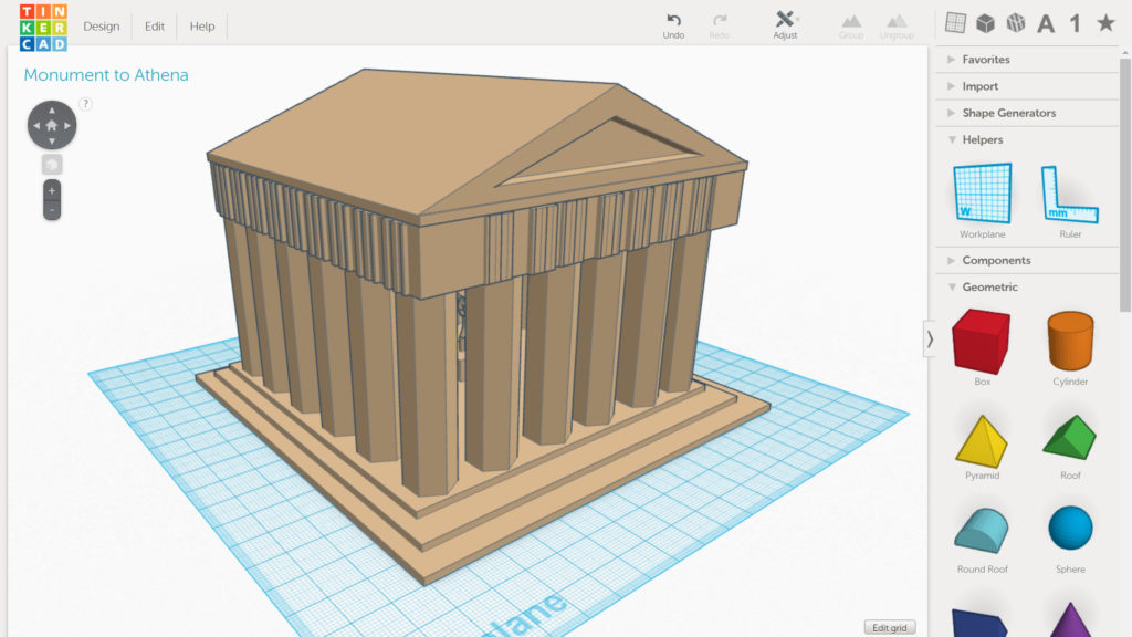 Designing Greek Monuments in 3D - Computational Thinking Curriculum